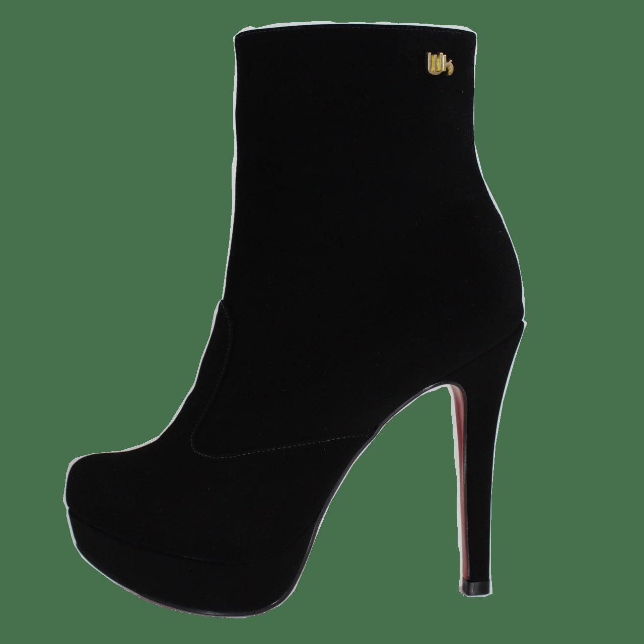 Ankle Boot Cano Médio Nobuck Preto