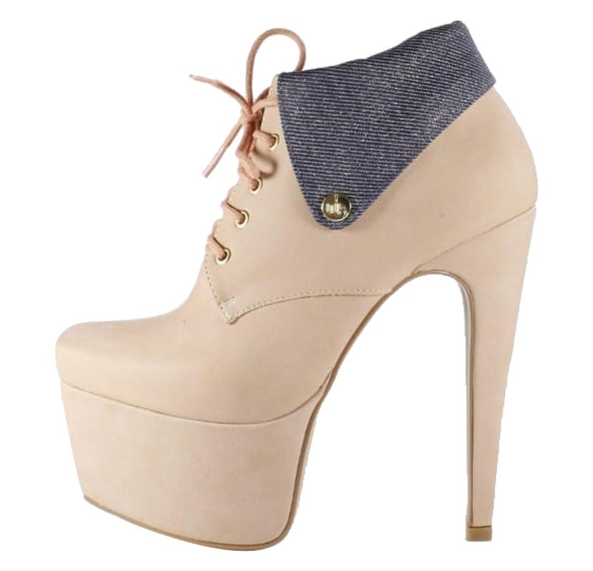 Ankle Boot Week Shoes Salto Alto 15 Nude Jeans