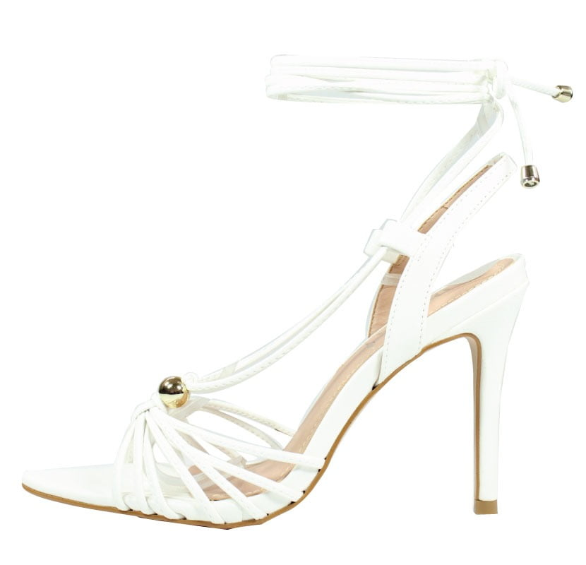 Sandália Salto Alto LB Inspired Branco