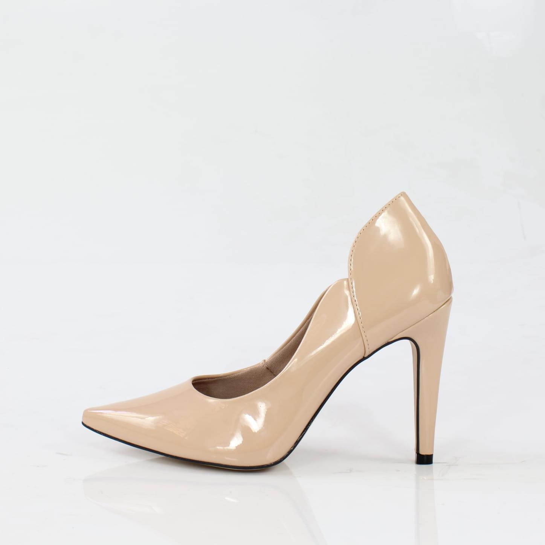 Scarpin salto alto week shoes brilhance nude