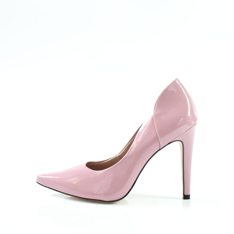 Scarpin salto alto week shoes Verniz Rosa Opala