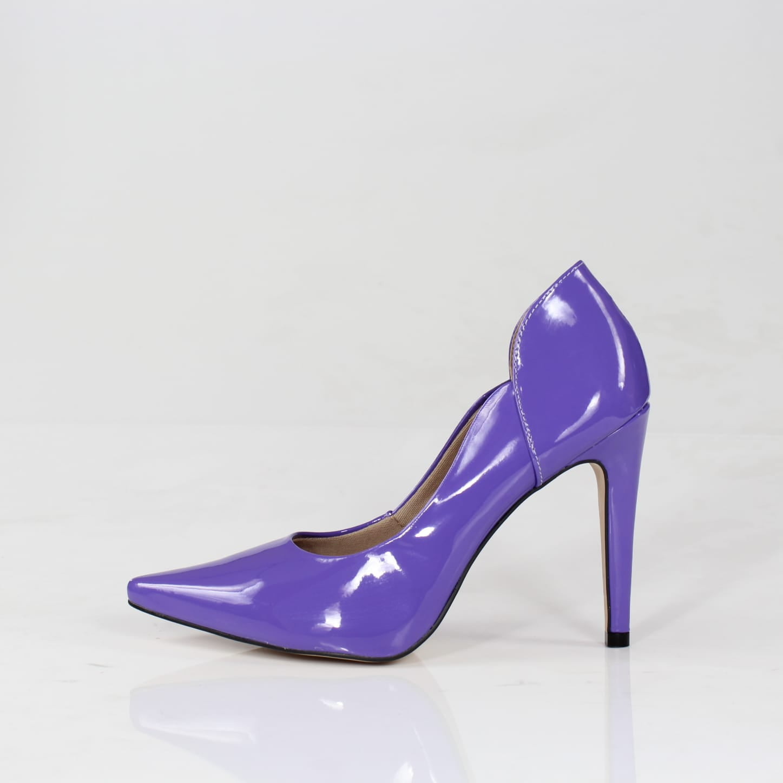 Scarpin salto alto week shoes verniz violeta