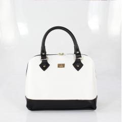 Bolsa de mão week shoes branco e preto