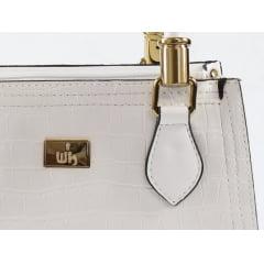 Bolsa de mão week shoes croco branco