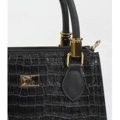 Bolsa de mão week shoes croco preto