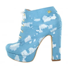 Ankle Boot Salto Grosso Jeans