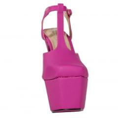Sandália Salto 15 Meia Pata Bico fechado Pink