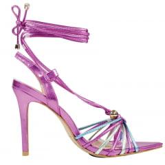 Sandália Salto Alto LB Inspired Pink