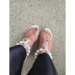 Sandália Salto Alto Minimalista Bolinhas Branco