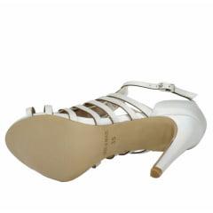 Sandália salto baixo gladiadora