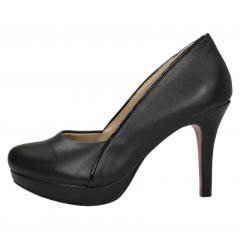 Scarpin Bico Redondo Week Shoes Salto Médio Preto