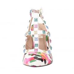 Scarpin Salto Alto Inspired Croco Multicolor